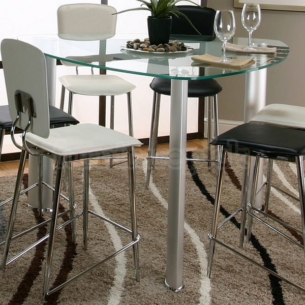 mesa de cristal triángulo mesa de comedor espacio en el ahorro de las ideas de muebles sillas blancas