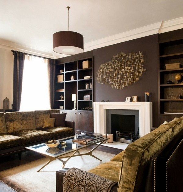 Room Ideas Wall Brown Living