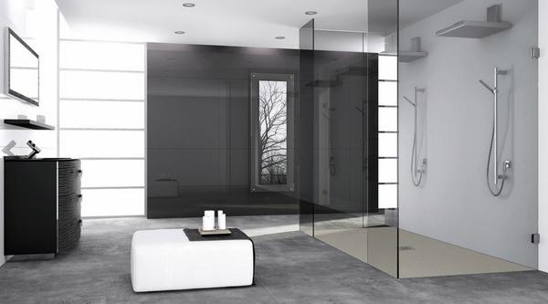Las ideas modernas cristal de la ducha de vidrio sin marco ducha a ras de cabina de ducha