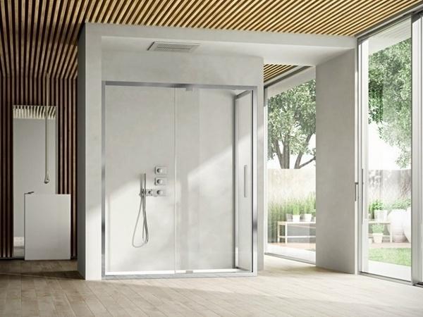 Las ideas modernas de ducha de vidrio cabina de ducha baño contemporáneo