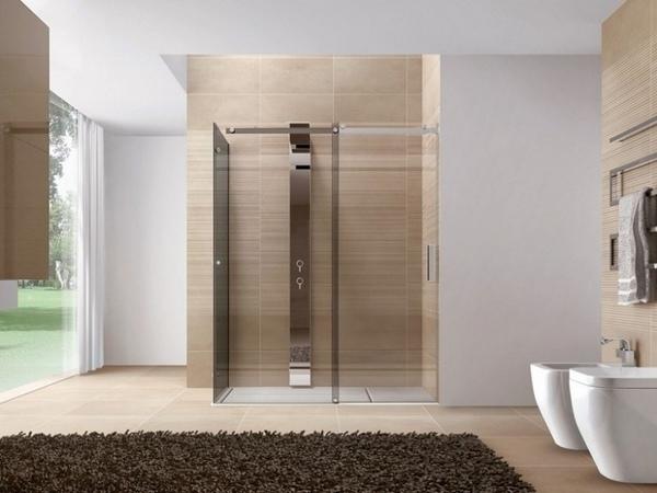 Las ideas modernas de ducha de vidrio pie en la ducha puertas de vidrio Ideas