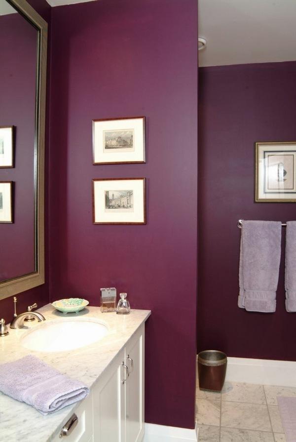 title   Colored bathroom