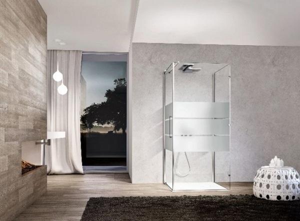 paseo moderna en ideas de la ducha ducha de cristal de la cabina de ducha de lluvia