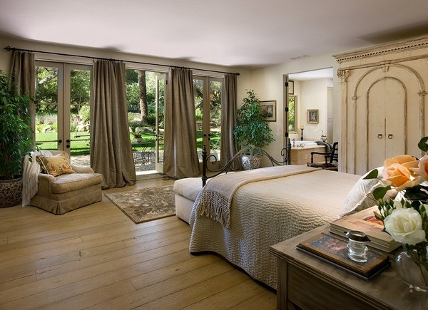 How to choose the ideal elegant French door curtains for ... on Master Bedroom Curtain Ideas  id=44592