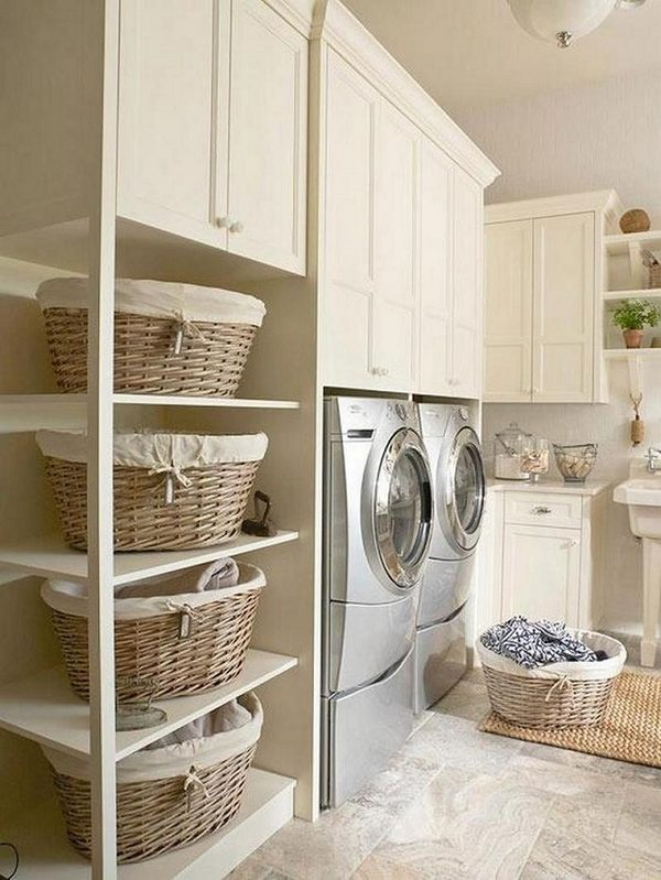 Modern laundry room cabinets and practical storage ... on Laundry Cabinets Ideas  id=75586