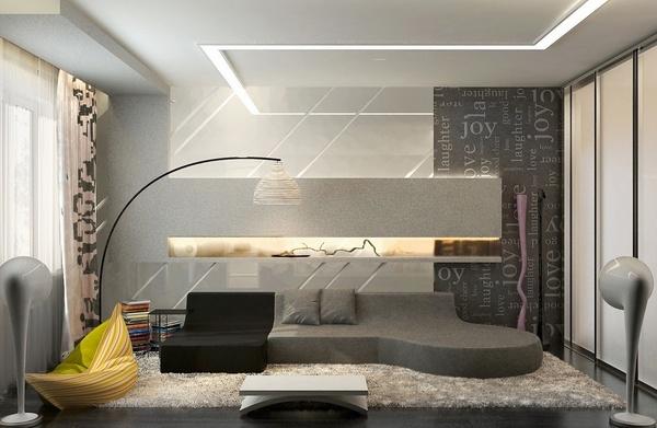 grises muebles de sala de ideas bajo el sofá gris lámpara de pie