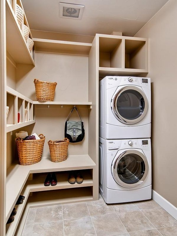 40 small laundry room design ideas - comfortable and ... on Laundry Room Decor  id=29076
