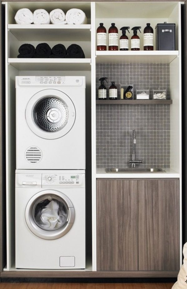 40 small laundry room design ideas - comfortable and ... on Small Laundry Ideas  id=87979