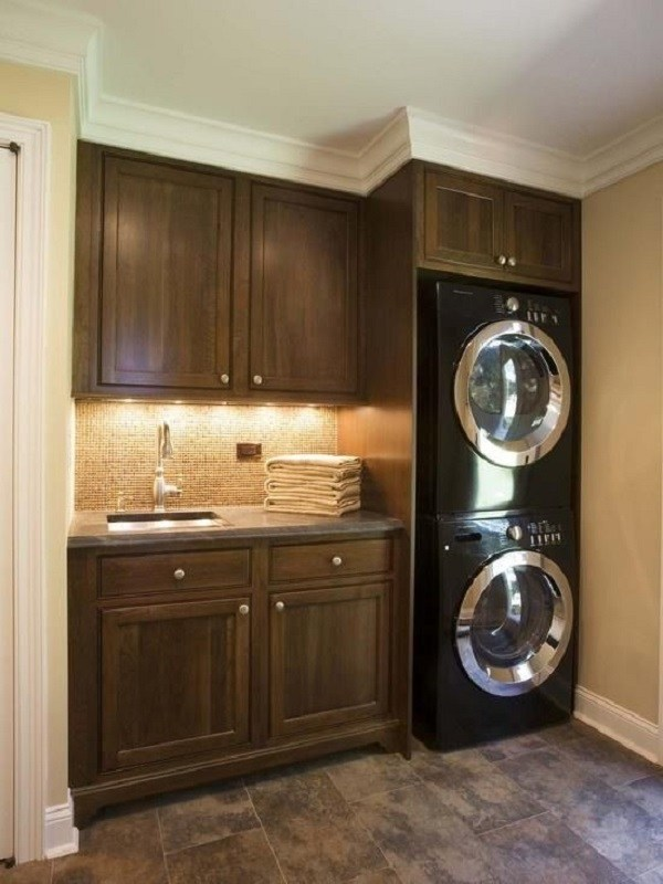 40 small laundry room design ideas - comfortable and ... on Laundry Cabinets Ideas  id=83487