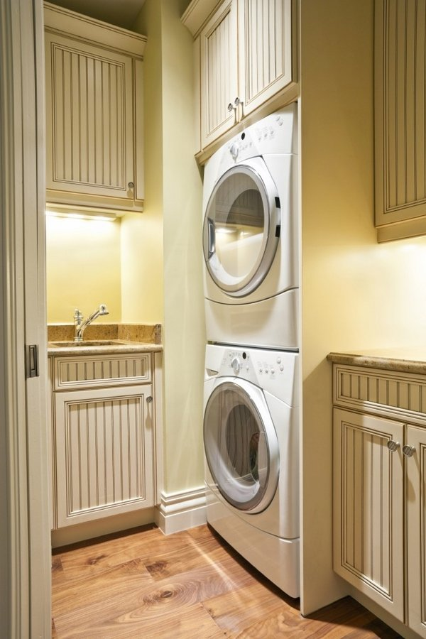 40 small laundry room design ideas - comfortable and ... on Laundry Cabinets Ideas  id=79440