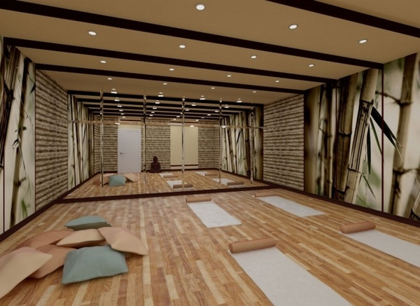 Awesome Home Yoga Studio Design Ideas Photos - Decorating Interior