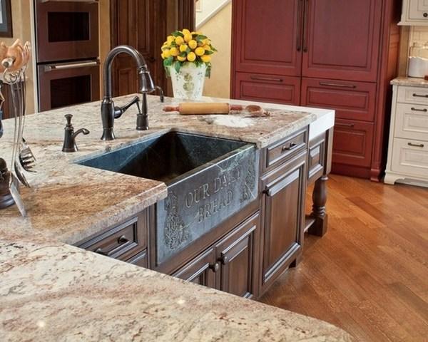 Typhoon Bordeaux granite countertops - best kitchen ... on Farmhouse Granite Countertops  id=66857