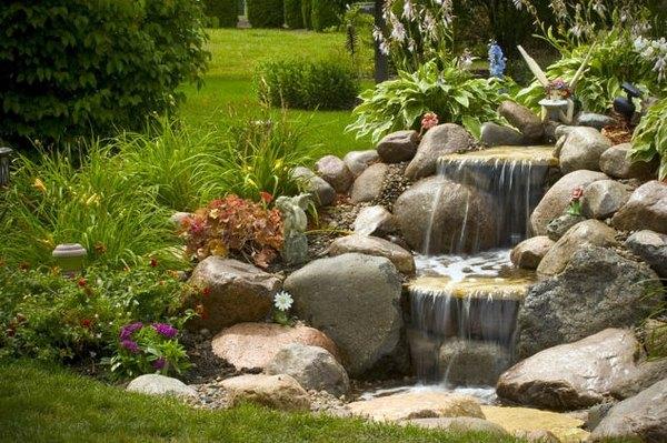 Pondless waterfall design ideas - unique garden water features on Waterfall Ideas For Garden id=26630