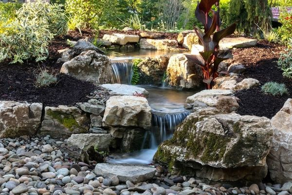 Pondless waterfall design ideas - unique garden water features on Front Yard Waterfall Ideas id=63303