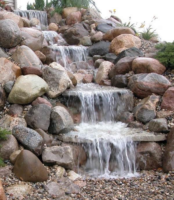 Pondless waterfall design ideas - unique garden water features on Waterfall Ideas For Garden id=34233