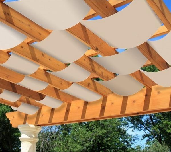 Pergola canopy and pergola covers - patio shade options ... on Canvas Sun Shade Pergola id=28766