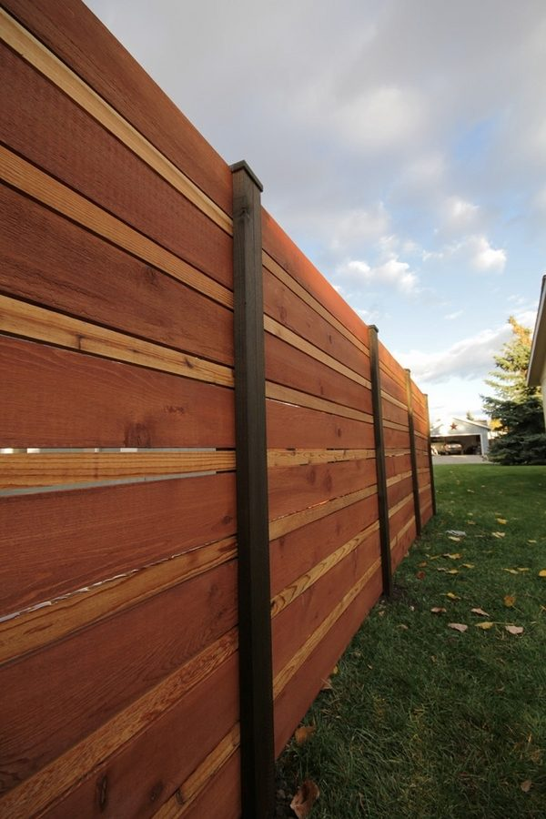 Horizontal fence panels - modern garden fence design ideas on Decorations For Privacy Fence id=77339