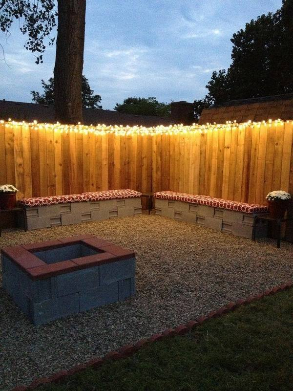 Cinder block fire pit - DIY fire pit ideas for your backyard on Cinder Block Fireplace Diy  id=82177