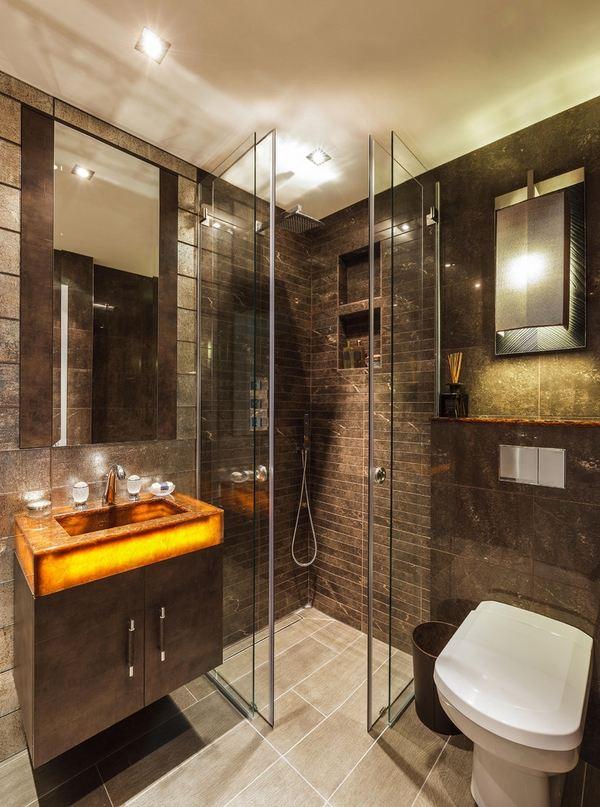 Modern shower enclosures - contemporary bathroom design ideas on Modern Small Bathroom Design  id=72745
