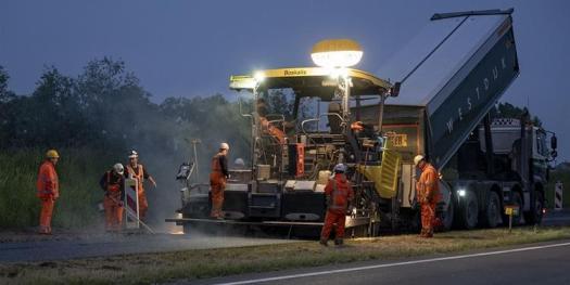 road building site