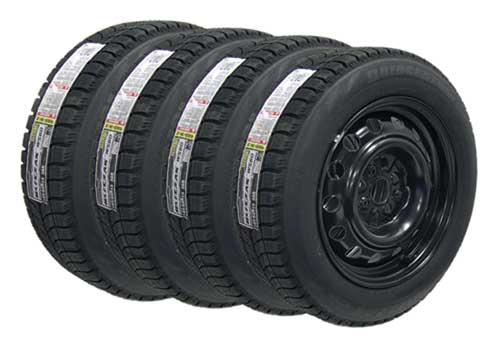 Snow Tire and Wheel package from Mini Mania