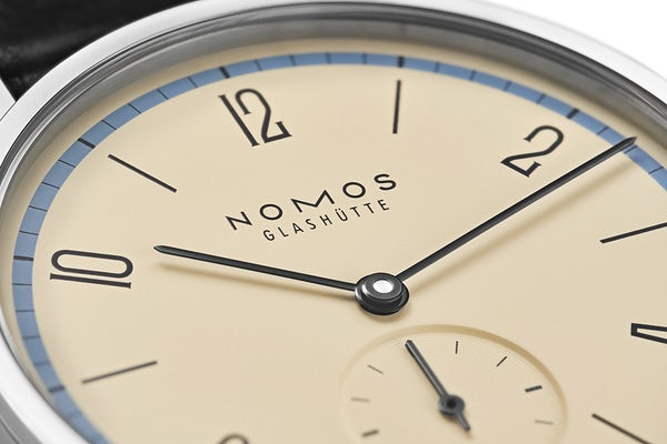 Nomos Glashuette Tangente 100 Years Bauhaus Limited Edition Blue