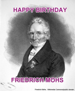 Friedrich Mohs Birthday