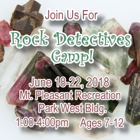 Rock Detectives Camp