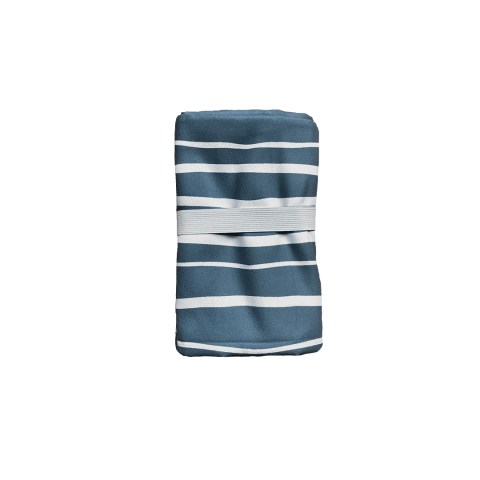 serviette microfibre MINIMIZ STRIPES BLUE L pliée