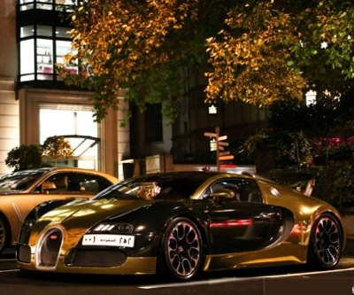 Gold Arab Supercars Hit The Streets Of London Mining Com