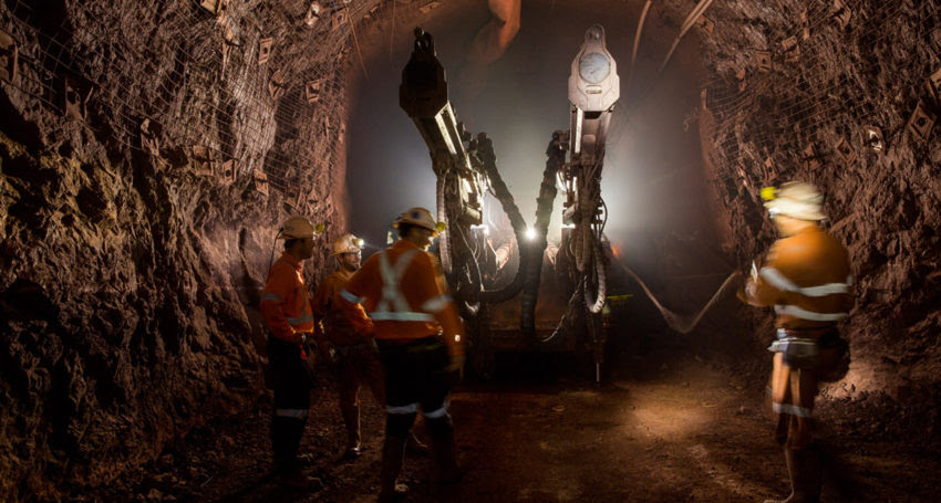 Underground at Oz Minerals' Prominent Hill mine in South Australia.
