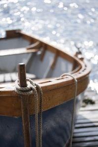 A boat at a coastal community...