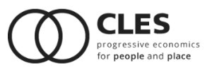 CLES progressive economics - image and web link