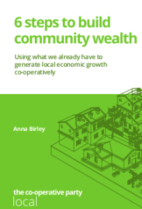 6 steps to build community wealth - booklet cover image and web link