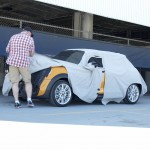 Spy Photo of a MINI so ugly they kept it covered.