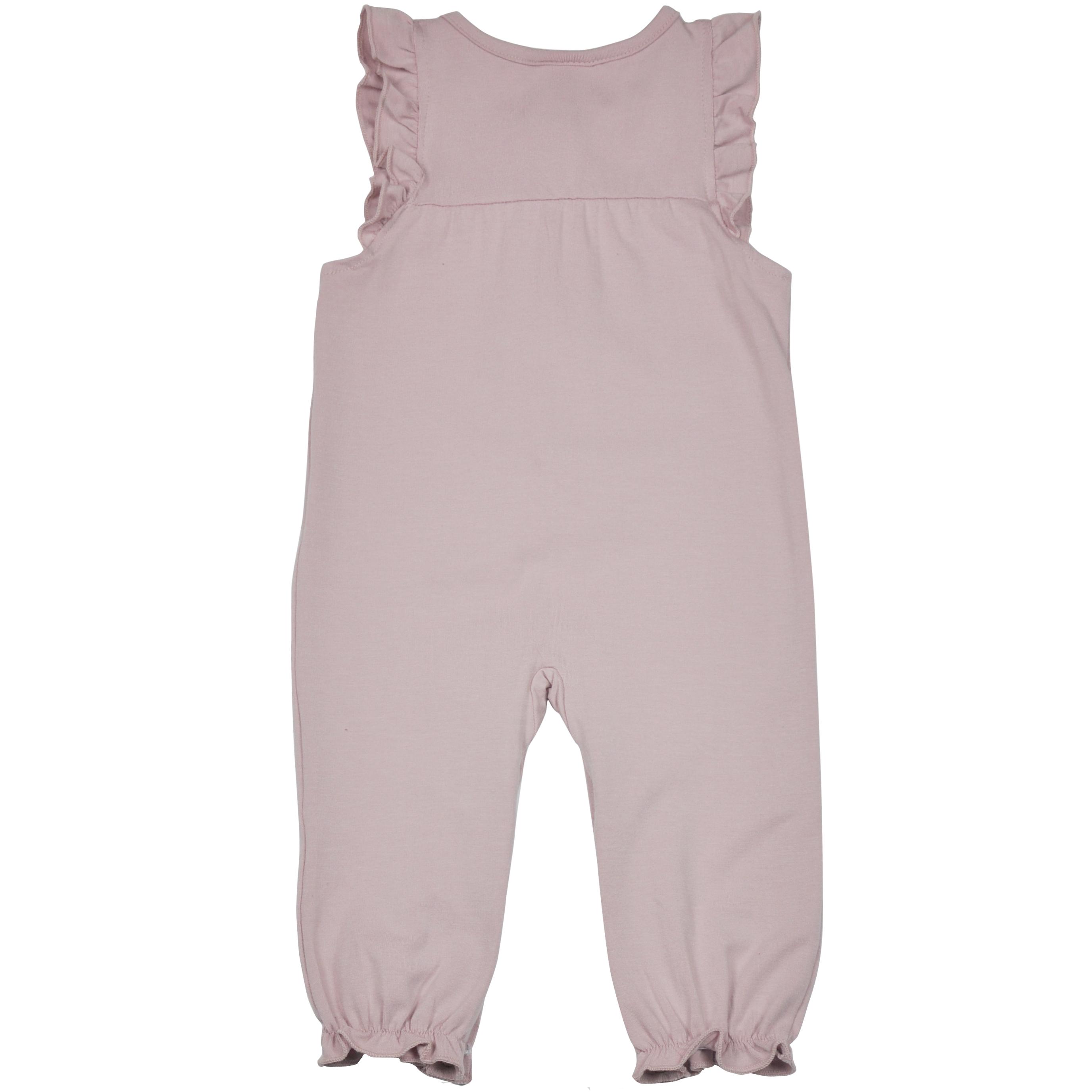 Støvet rosa jumpsuit bak