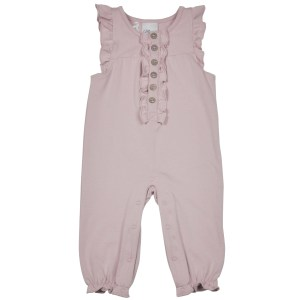 Støvet rosa jumpsuit foran