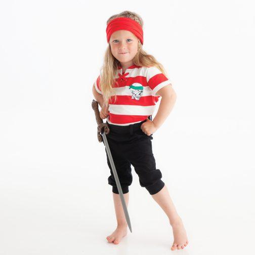 Rødt piratsett