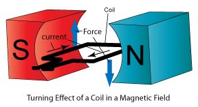 Turning effect of a coil