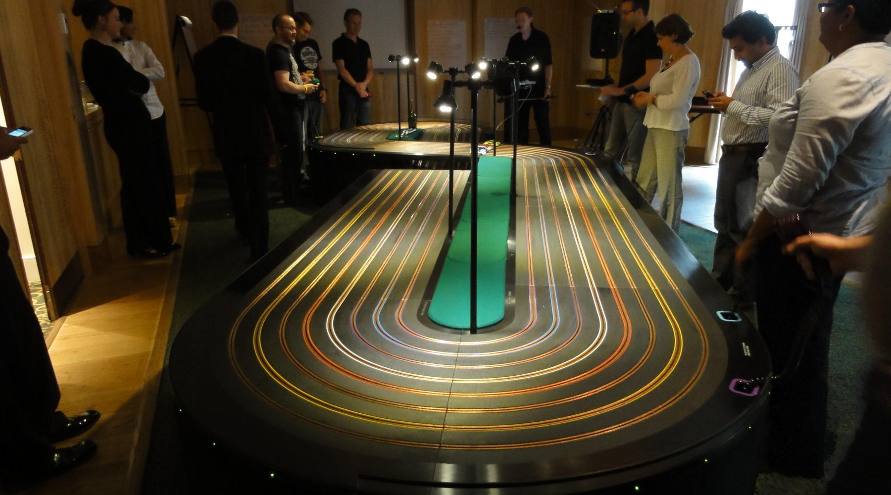 Giant Scalextric Hire Largest 8 Lane Track Miniracing Com