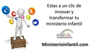 Estas a un clik de innovar y transformar tu ministerio infantil