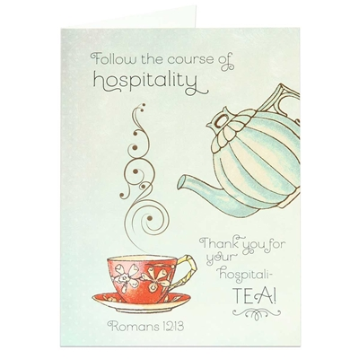 Thank You Card With Romans 1213 Biblical Thank You Card