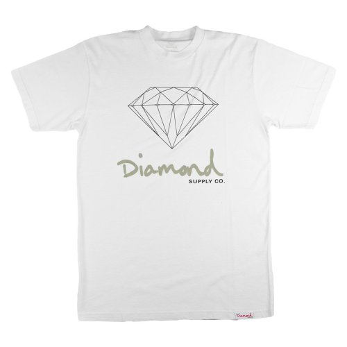 diamond og sign tee white