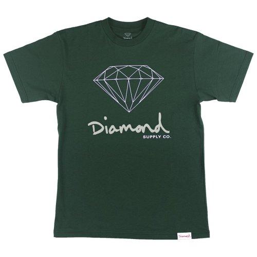 diamond og sign tee hunter green