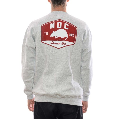 MOC GAS STATION CREWNECK HEATHER GREY 2