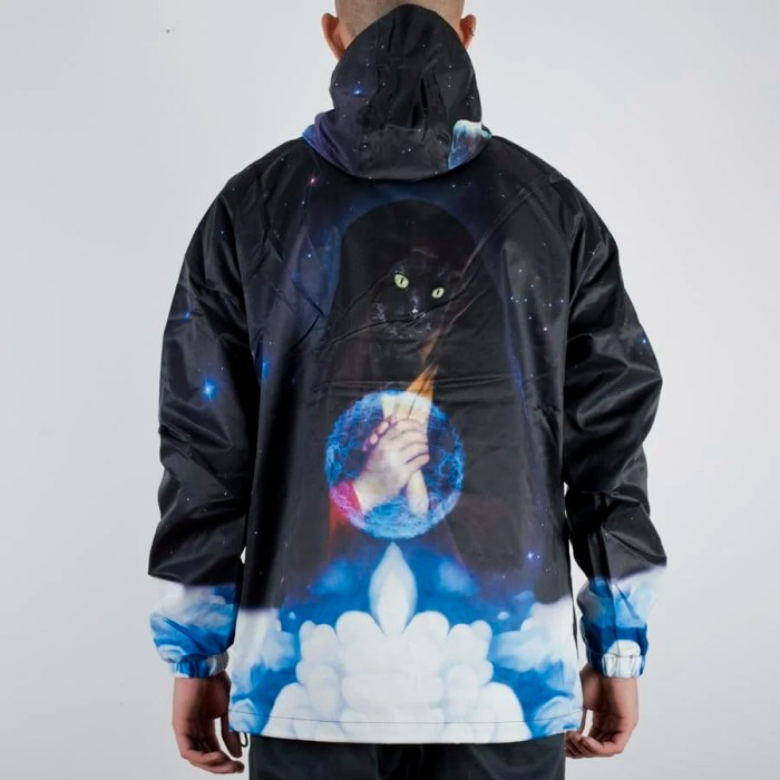 RIPNDIP GALAXY GYPSY ANORAK JACKET BLACK