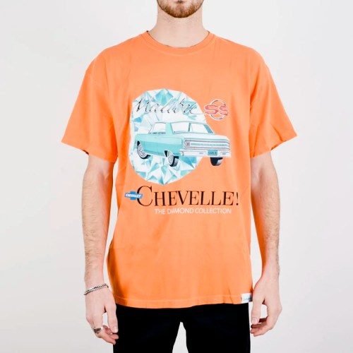 DIAMOND X CHEVELLE MALIBU TEE ORANGE