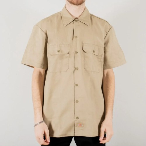 DICKIES WORK SHIRT SS KHAKI