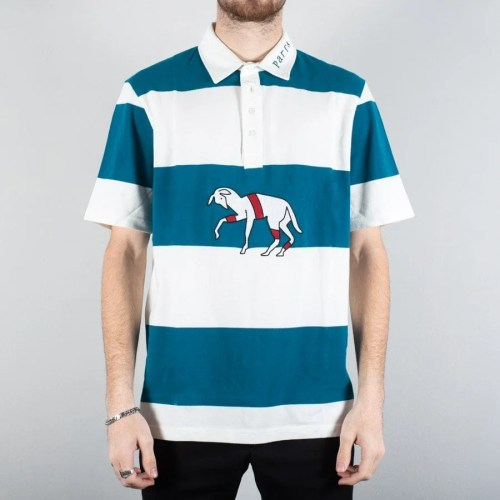 PARRA STRIPED GOAT POLO SS SHIRT MULTI