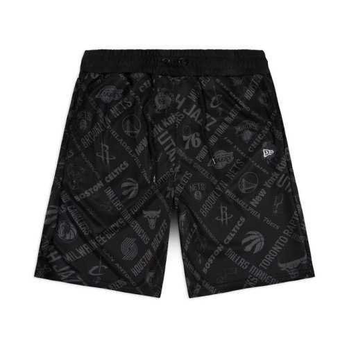 NEW ERA NBA ALL OVER PRINT SHORTS BLACK